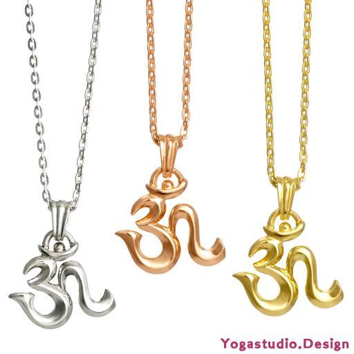 OM Symbol Schmuckanhänger mit Öse 21mm in Silber-Rosegold-Gold