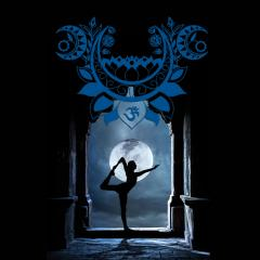 Wanddeko Fotomotiv Moonlight Yoga Design