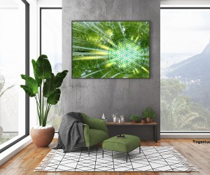 Wanddeko Blume des Lebens Bambuswald