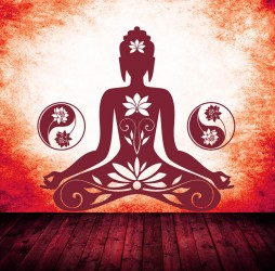 Buddha Wandtattoo
