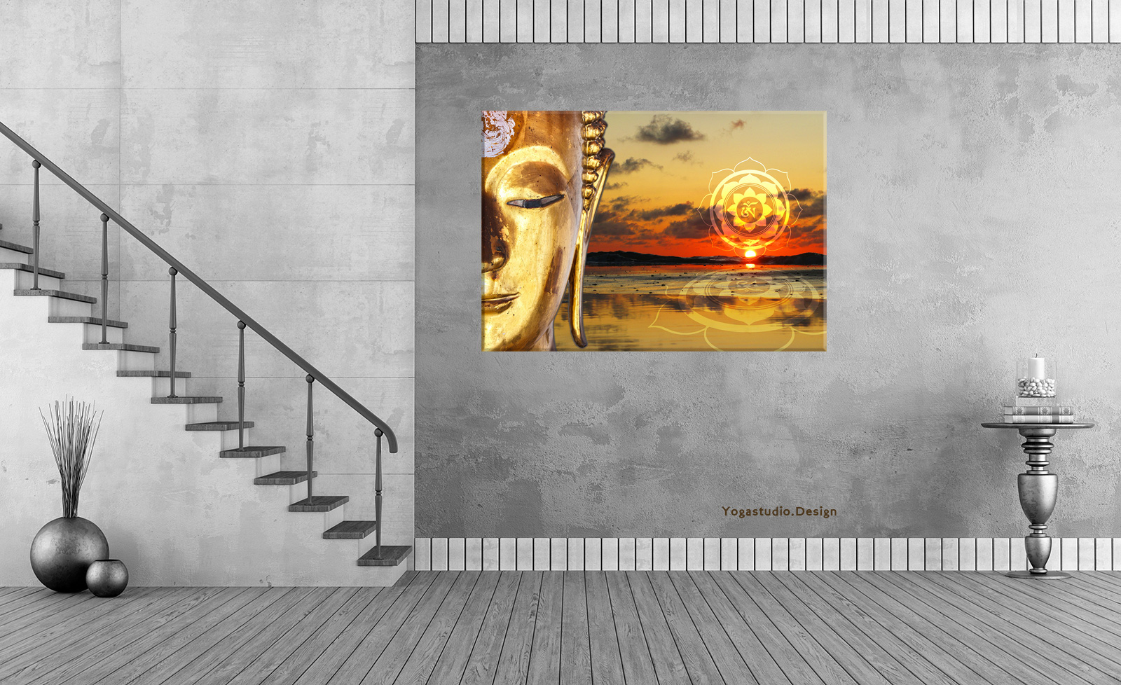 Fotomotiv Golden Buddha Wanddeko