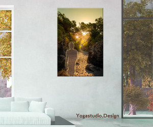 Wanddeko Buddhabild Lichtvoll