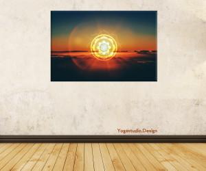 Wanddeko Mandala Bild mit OM