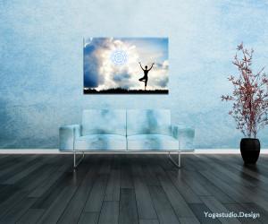 Deko Bild Fotomotiv Yoga