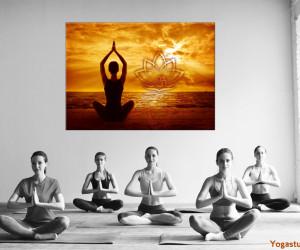Bilder für die Wand als Dekoration Yogapraxis