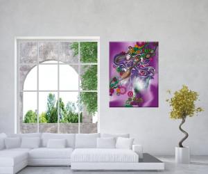 Wandbild Saraswati Göttin der Kreativität