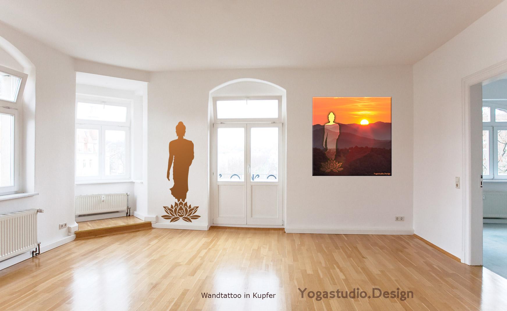 Wanddekobilder und Wandtattoos ein ideale Kombination