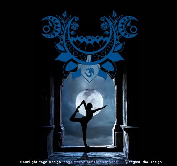 Moonlight Yoga Design Wanddeko