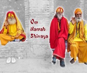 Wanddeko Indien Mantra Lichter Guru