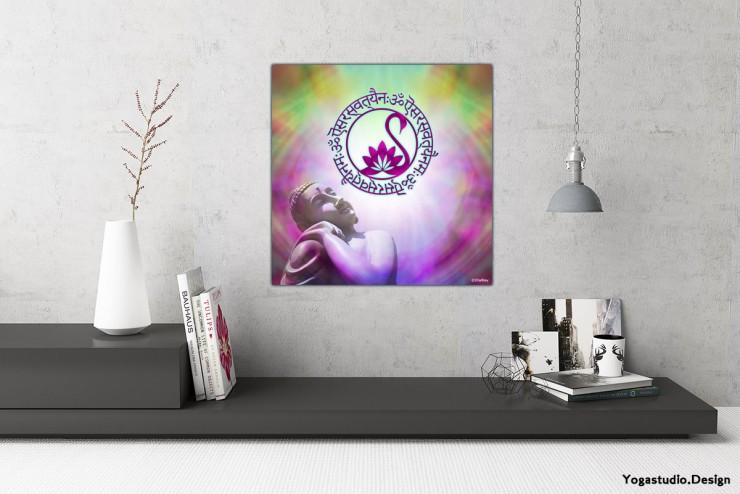 Wanddeko Modern Saraswati Hindugott Mantra Bild